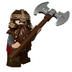 lego lord rings gimli minifigure removed